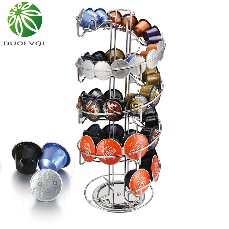 Practical Coffee Capsule Dispensing Tower Coffee Capsules Holder Rack For Nespresso/Dolce Gusto/K-Cup Coffee Capsules