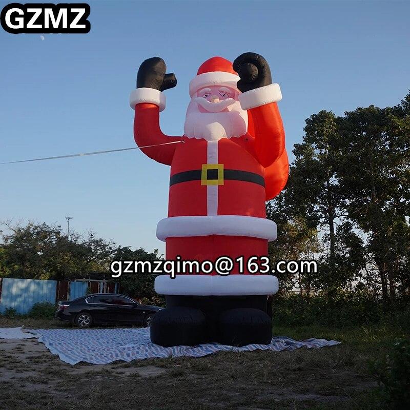 Bolsa de regalos para Papá Noel gigante inflable de Navidad para decoración de fiesta de navidad
