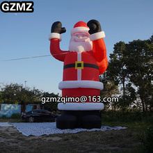 цена на christmas inflatable giant Inflatable Santa Claus holding gifts bag for Christmas party decoration Father Christmas old man