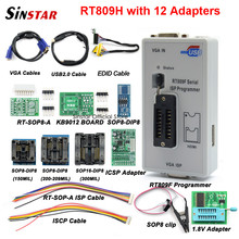 Original RT809F programmer +12 Adapters+sop8 IC clip+CD+1.8V / SOP8 Adapter VGA LCD ISP programmer adapter universal programmer