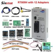 Orijinal RT809F programcı + 12 adaptörler + sop8 IC klip + CD + 1.8V / SOP8 adaptörü VGA LCD iss programcı adaptörü evrensel programcı