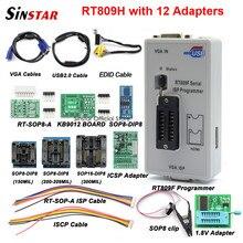 Oryginalny programator RT809F + 12 adapterów + sop8 zacisk IC + CD + 1.8V / SOP8 Adapter VGA LCD ISP programator adapter uniwersalny programator