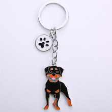 Простой Ротвейлер собака кулон брелок сплав металлическая сумка Шарм для мужчин и женщин автомобильный брелок ювелирные украшения подарок