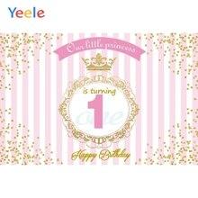 цены Yeele Baby 1st Birthday Backdrop Newborn Kids Baby Shower Party Custom Vinyl Photography Background For Photo Studio Photocall
