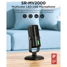 Saramonic SR-MV2000 Microphone Recording Real time play back monitor Type-c USB-C Mobile phone universal Desk Mic