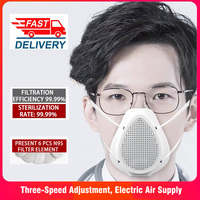 N95 respirator electric gas mascherine mouth mask anti dust protective safety filter face respiratory Air Purification Mask Masks     -