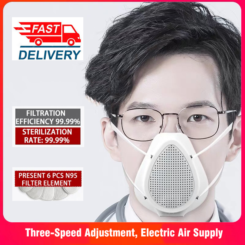 Mouth Mask Respirator Filtering Anti Dust Protective Mask Adult Dust Electric Air Purification Mask For USB Charging