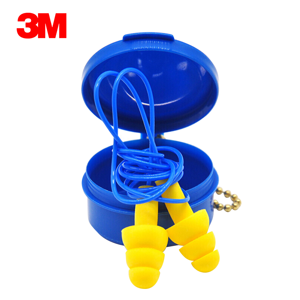 1 Pair 3M 340-4002 Ear Plug With Straps Anti-noise Earplugs Sleeping Earplugs Christmas Tree Comfortable Ear Protector With Box