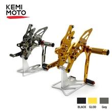 KEMIMOTO Fußstütze Für Yamaha YZF R25 R3 MT 03 MT 25 2014 2015 2016 2017 2018 CNC Einstellbare Fußrastenanlage Hinten set Fuß pegs Fuß rest