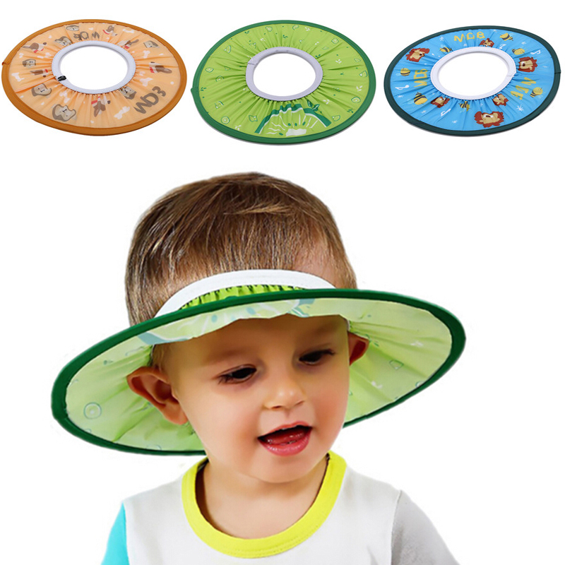 Wash Hair Shield Caps Adjustable Baby Products Shower Hat Soft Safe Toddler Kids Shampoo Bathing Cute Fruit Pattern Protect Cap