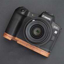 Hand Made Wooden Wood Hand Grip Base Plate Bracket For Canon EOS R