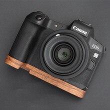 Soporte de placa Base de agarre manual de madera hecho a mano para Canon EOS R