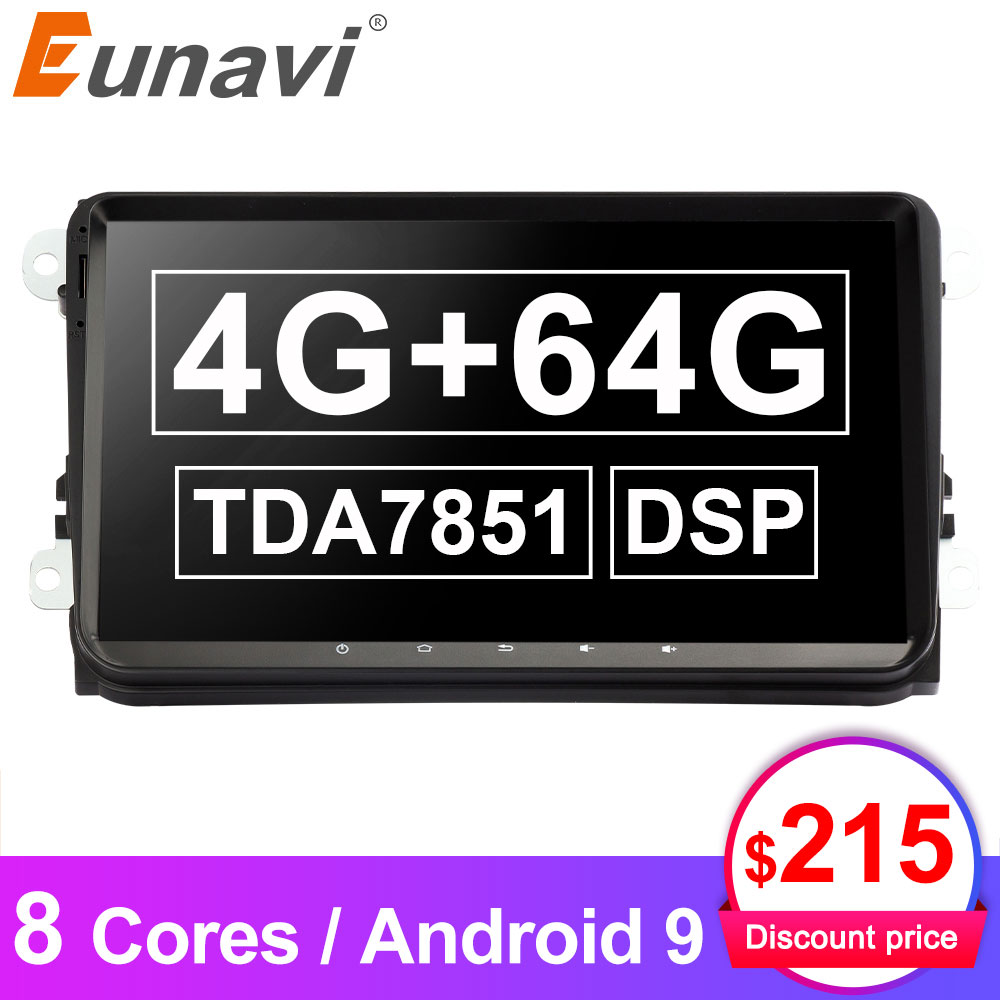 Eunavi 2 DIN Android 9,0 Auto Radio Multimedia für VW Passat B6 CC Polo GOLF 5 6 Touran Jetta Tiguan magotan Sitz Stereo dvd GPS