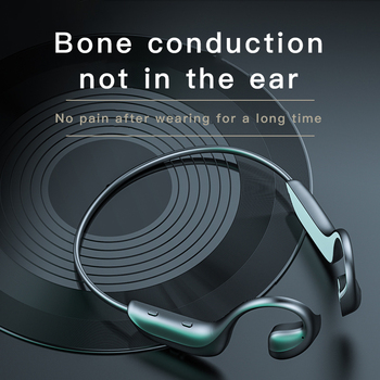 Bluetooth 5.0 G100 Hi-tech Wireless Headphones Bone Conduction Earphone Outdoor Sport Headset with Microphone Handsfree Headsets