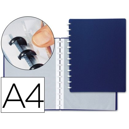 FOLDER LIDERPAPEL DIN A4 WITH 20 CASES INTERCHANGEABLE COLOR BLUE
