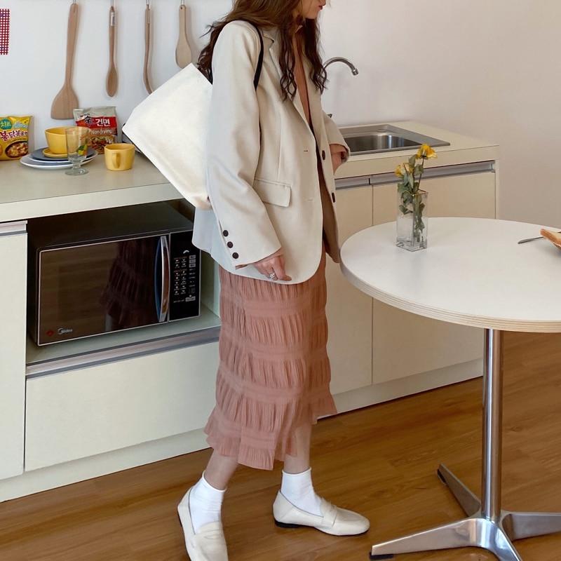 H6fb107aa7cd04a048c9f68bae3e6042fp - Autumn Korean O-Neck Flare Long Sleeves Chiffon Pleated Midi Dress