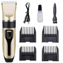 USB Rechargeable Professional Pet Dog Hair Trimmer Animal Grooming Clippers Low-noise Cat Cutter Machine Shaver Electric Scissor стоимость