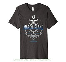 New Arrival Male Tees Casual Boy T-shirt Tops Discounts Marco Island Shirt(China)