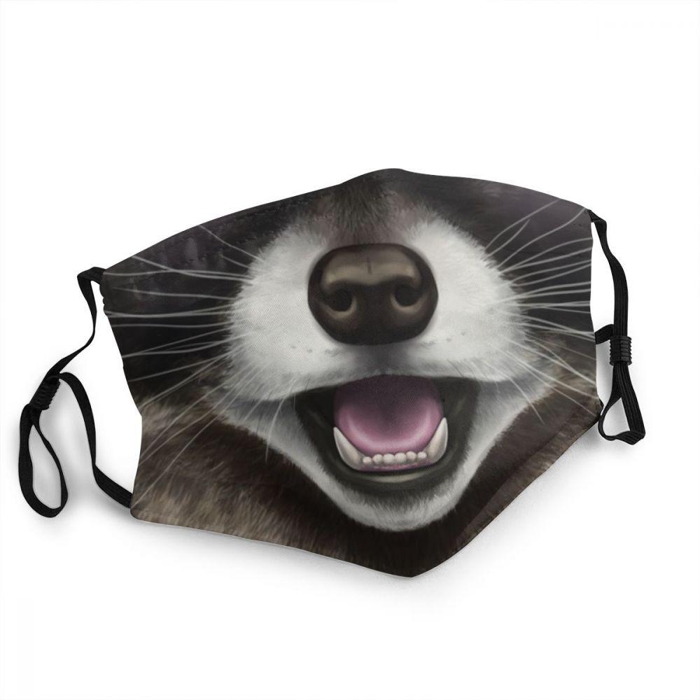 Masque lavable raton laveur Créer Son T Shirt