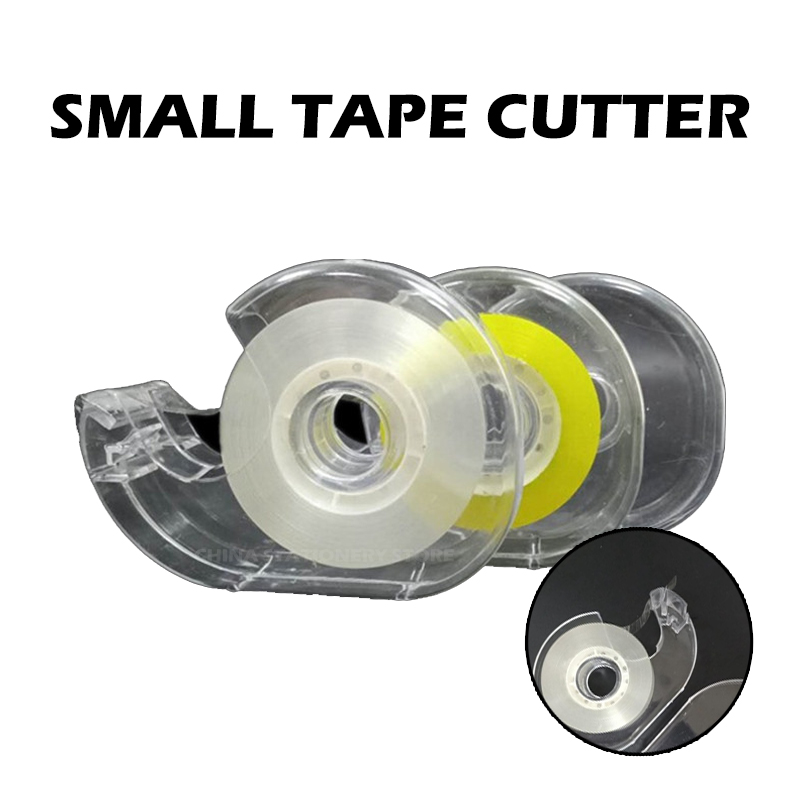 Mini Snail Shell Stationery Small Tape Cutter Tape Machine Tape Holder Transparent Plastic