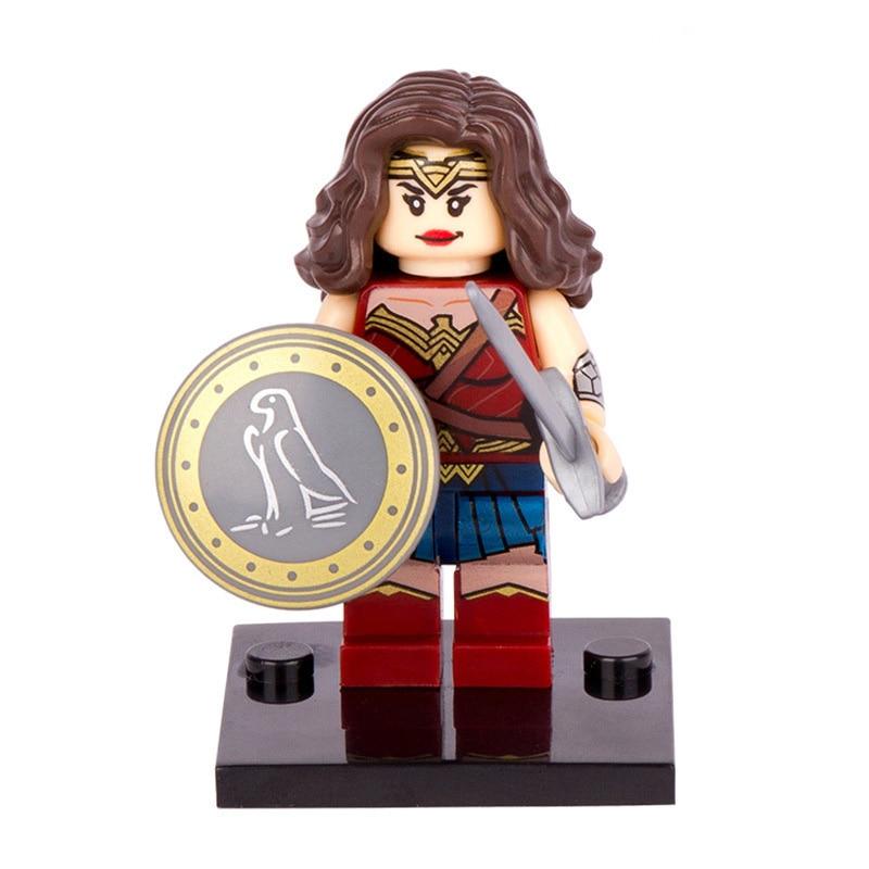 Hot Single Sale LegoINGlys Super Heroes MiniFigure DC Wonder Woman Diana Princes Building Blocks Toys Best Gifts For Kids Xh222