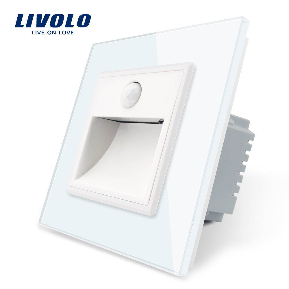 Livolo New Arrival EU Standard Porch Corridor Corner Lamp,Footlights Switch, Touch Control,Intelligent Sensor Light,up In Dark