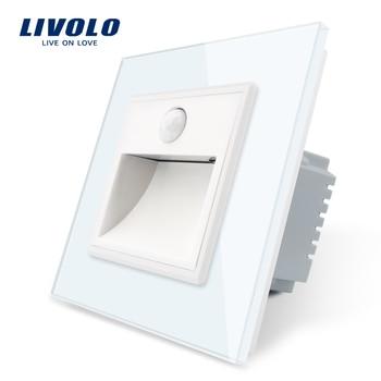 ¡Novedad! Lámpara de esquina Livolo de pasillo estándar de la UE, interruptor de luces de pie, control táctil, luz inteligente con Sensor, en la oscuridad