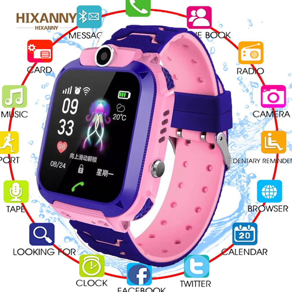 2019 Smart Watch Phone Baby GPS Tracker Watch with SOS Anti-Lost Alarm Sim Card Slot Touch Screen for Children Kids Boys Girls