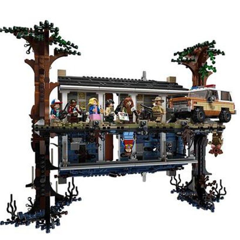 New 2499pcs Lepining City 75810 Stranger Things The Upside Down Building Blocks Bricks Set Children Toys Gift Christmas Gift