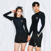 2019 Version COUPLE'S Swimsuit Set Long Sleeve Sun resistant Quick Dry Men And Women Beach Surfing Diving Split Type Boxer Swimw
