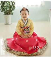 Children Korean Girl Hanbok Embroidery Dress Costume Ethnic Dance Traditional Long Sleeve Cosplay Mother Daughter Clothes