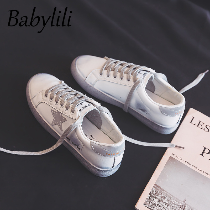 Women Canvas Shoes Casual Flat Shoes Star Lace Fashion Vulcanized Shoes PU Leather White Shoes Spring Summer Designer Sneakers