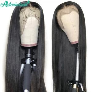 Pelucas de cabello humano Asteria 13X4 con encaje frontal para mujer negra, pelucas frontales de encaje recto malasio con 250% de densidad, peluca predesplumada