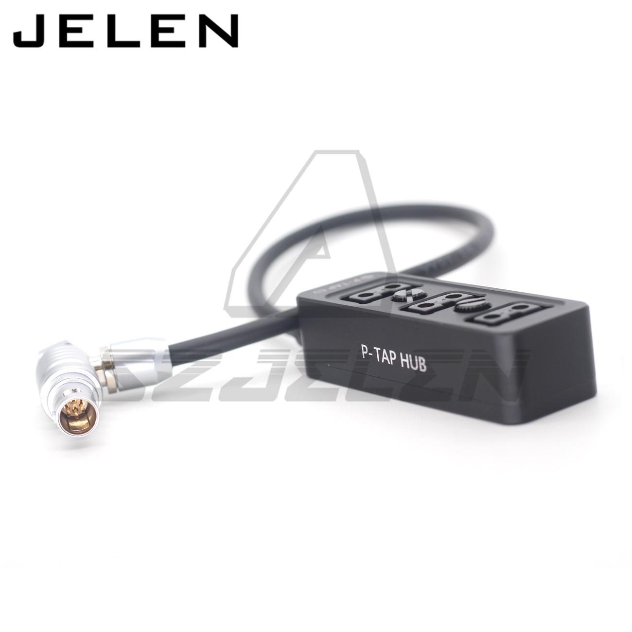 ARRI alexa mini EXT 7pin to 3 DTAP female Camera power three way splitter Metal case with 1/4'