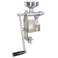 JamieLin Stainless Steel Home Manual Oil Press Machine Olive Oil Presser Nut Seeds Peanut Mill Expeller Hand squeezer