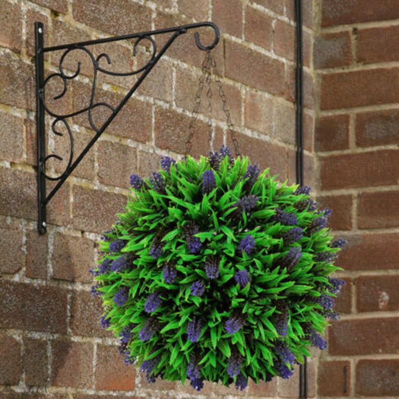Декор шар из искусственной травы фигурной стрижки кустов завод гирлянда для развешивания Пластик 20/30 см имитация сад