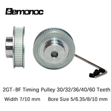 GT2 Timing Pulley 30/32/36/40/60Tooth Wheel Bore 5/6.35/8/10mm Aluminum Gear Teeth Width 7/10mm 2GT Timing Pulley For 3D Printer high tech cheap price 72teeth t5 alumin7m timing gear wheel