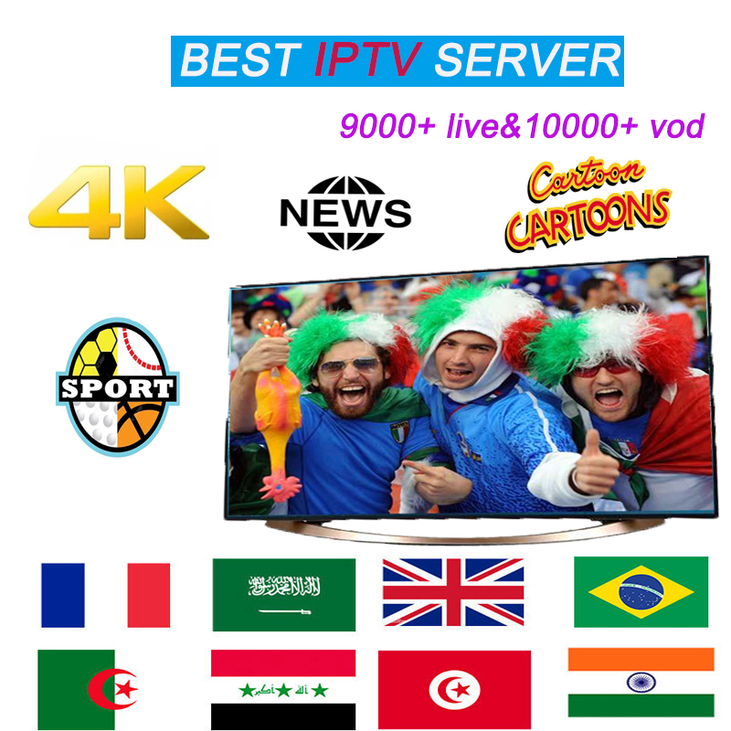 World Full HD IPTV Subscription Live Sports Channel For Android Mag M3u 9000+ Live&10000+ Vod For Poland Spain France Arabia UK