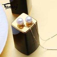 FENASY 18k Gold Drop Earrings Natural Akoya Pearl Earrings For Women 18K Yellow Gold Au750 Wedding Engagement Jewelry