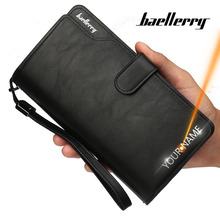 2020 Men Wallets 21 Card Holders Name Engraving Male Purse Q