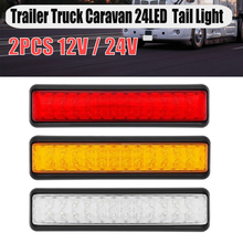 2X รถบรรทุกไฟท้าย12V/24V Amber สีขาวไฟ Led สีแดงเลี้ยวย้อนกลับสัญญาณ Trailer ด้านหลัง light UTE Campers สำหรับรถบรรทุก Caravan