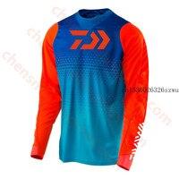 2020 DAIWA mężczyźni odzież wędkarska ultracienki krem do opalania z długim rękawem Anti uv oddychający płaszcz letnia koszula wędkarska rozmiar XS 5XL kurtka w Ubrania wędkarskie od Sport i rozrywka na