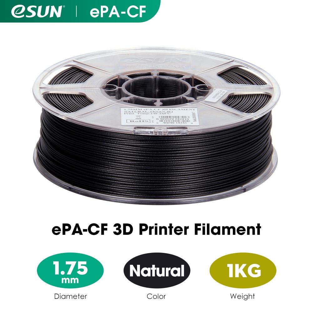 Наполненная углеродным волокном Филамент eSUN ePA-CF 1,75 мм Филамент для 3D-принтера, 1 кг 2,2 фунта катушка Филамент для 3d-печати для 3D принтера s