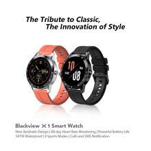 Ремешок из ТПУ для смарт часов Blackview X1, водостойкий, 5 АТМ, TFT экран 1,3 дюйма, с пульсометром и 9 режимами сна