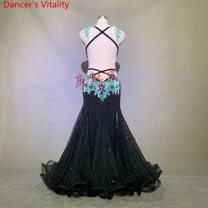 Image 2 - 豪華なベリーダンスのパフォーマンス衣装キラキラビーズブラジャービッグ裾スカートセット女性女性東洋のインドダンスステージの摩耗