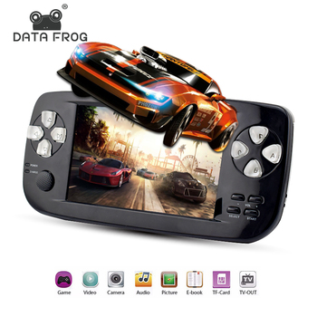 Data Frog 4.3 Inch HD Game Console 32 Bit Portable Handheld Game Player PAP KIII For GBC/CP1/NEO/GEO Format 500+ Inner Game