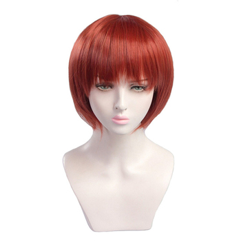 цена на Game Danganronpa Koizumi Mahiru Cosplay Wigs Short Heat Resistant Synthetic Bobo Hairpiece Party Costume Wig Pelucas