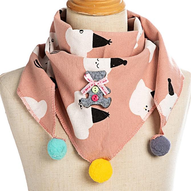 Весенние клетчатые треугольные шарфы в горошек для маленьких девочек; осенне-зимняя шаль для мальчиков и девочек; Детские хлопковые воротники; теплый детский шейный платок - Цвет: C1