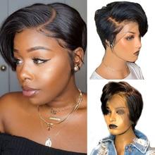 Short Human Hair Wigs Pixie Cut Wig Maxine Pixie Wig Human Hair Bob Lace Front Wig Short Wig Lace Front Human Hair Wigs remy 150