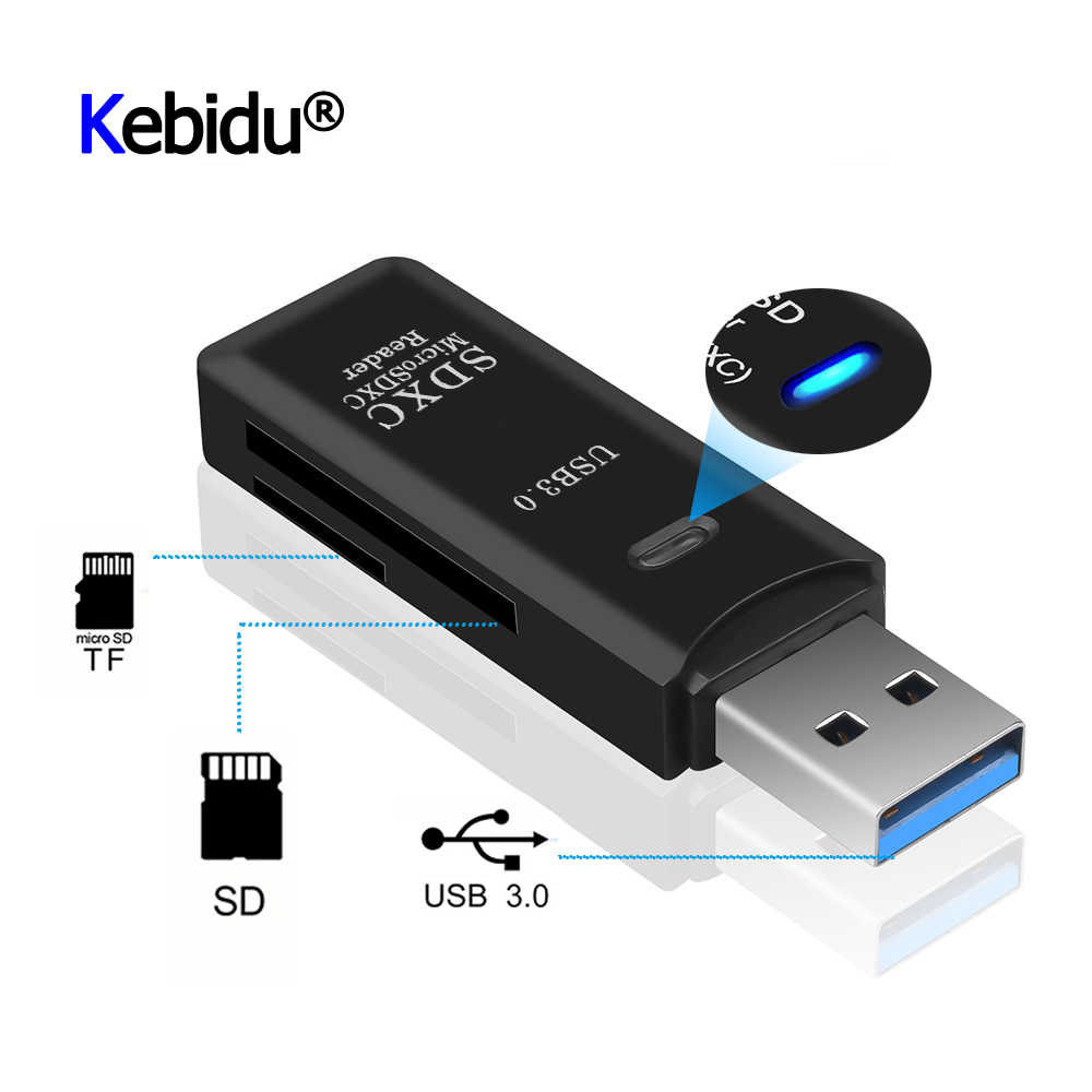 Mini Kaartlezer Usb 3.0 Sd/Micro Sd Tf Otg Smart Geheugenkaart Adapter Voor Laptop Usb 3.0 Multi smart Kaartlezer Sd Kaartlezer